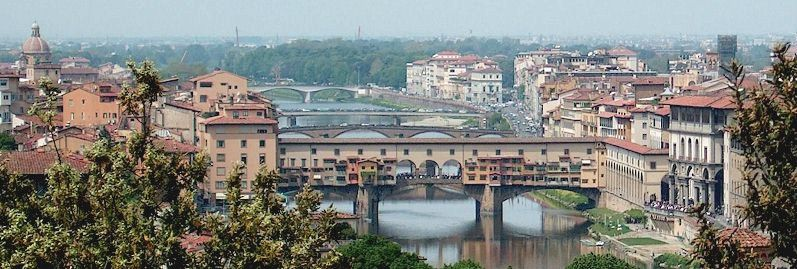 Valdarno bridges over the Arno at Florence